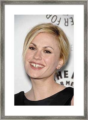 Anna Paquin At Arrivals For True Blood Framed Print