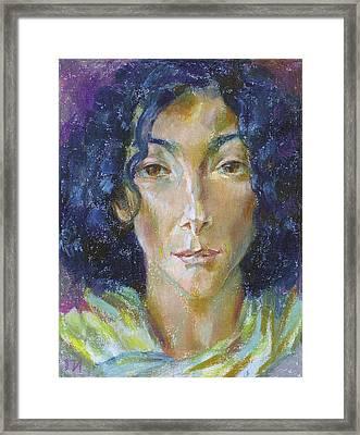 Anna Stern Framed Print by Leonid Petrushin