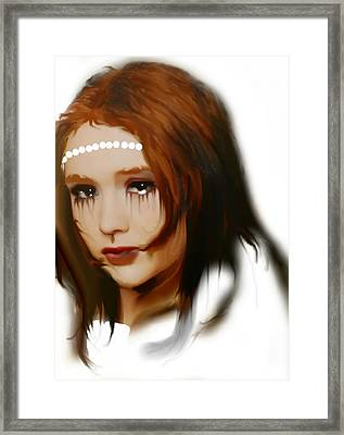 Framed Print featuring the painting Anna by Susan  Solak