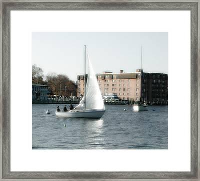 Annapolis Sail Boat Framed Print