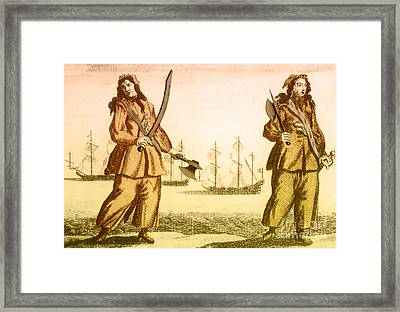 Anne Bonny And Mary Read, 18th Century Framed Print by Photo Researchers