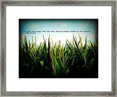 Framed Print featuring the photograph Anne Bronte's Cornfield by Robin Dickinson
