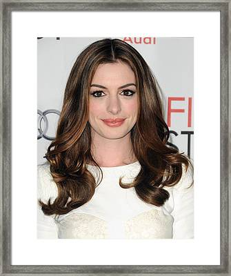 Anne Hathaway At Arrivals For Afi Fest Framed Print