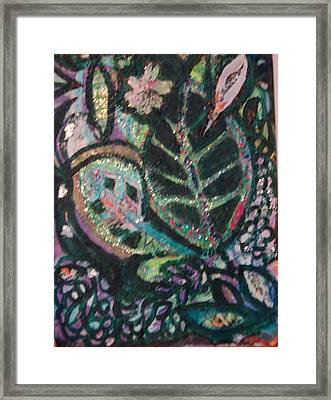 Anne Imagines Abstract Leaves Framed Print by Anne-Elizabeth Whiteway