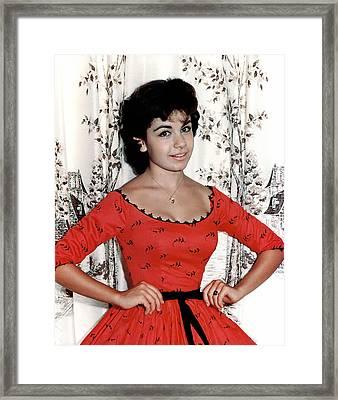 Annette Funicello, 1950s Framed Print by Everett
