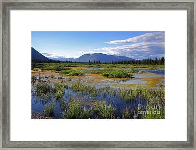 Annie Lake In Yukon Framed Print by Charline Xia