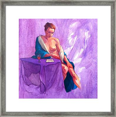 Annie's Letter Framed Print by Roz McQuillan