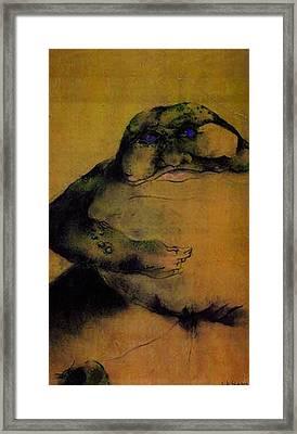 Annie's Toad Framed Print by Dede Shamel Davalos