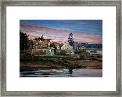 Annisquam River Framed Print by Peter Sit