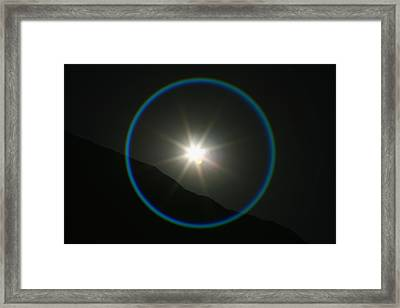 Framed Print featuring the photograph Annular Solar Eclipse - Blue Ring At Vasquez Rocks by Lon Casler Bixby
