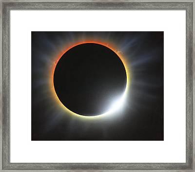 Annular Solar Eclipse, Artwork Framed Print by Richard Bizley