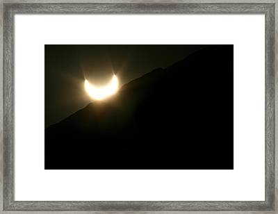 Framed Print featuring the photograph Annular Solar Eclipse At Sunset Number 2 by Lon Casler Bixby
