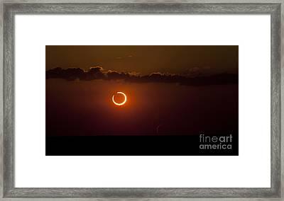 Annular Solar Eclipse Framed Print by Phillip Jones