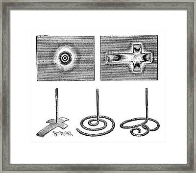 Anode Patterns, 19th Century Framed Print by
