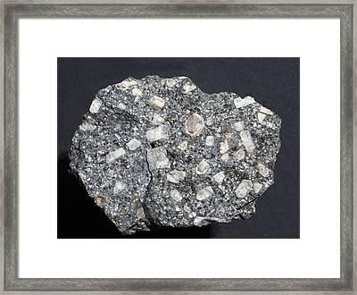 Anorthite In Andesite Framed Print by Dirk Wiersma