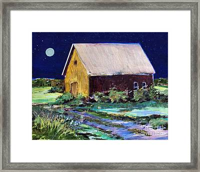 Another Barn Painting Framed Print