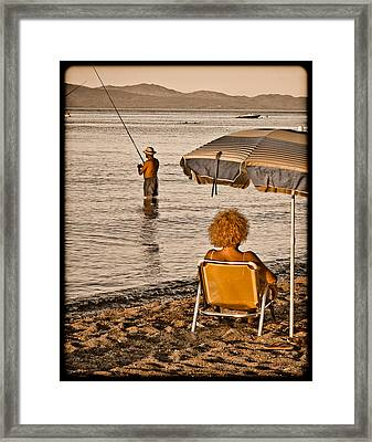 Hanioti, Greece - Another Day In Paradise Framed Print