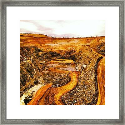 Another Gold Mine Another Day! Framed Print