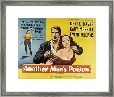Another Mans Poison, Gary Merrill Framed Print by Everett