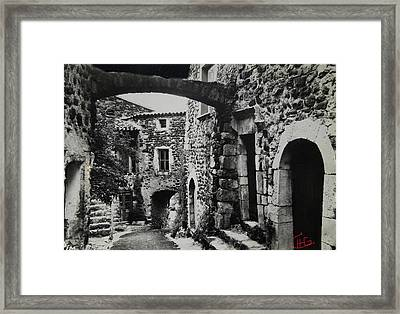 Another Residence In Childhood Alba France Ardeche Framed Print by Colette V Hera  Guggenheim
