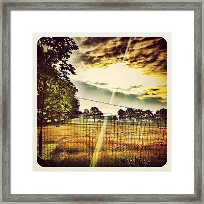 Another #sunrise Pic From This Mornings Framed Print