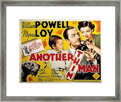Another Thin Man, Asta, William A Framed Print