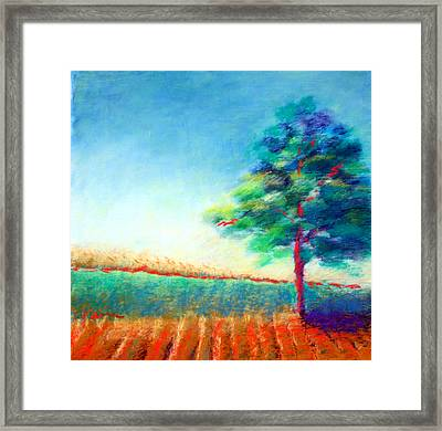 Another Tree In A Field Framed Print by Karin Eisermann