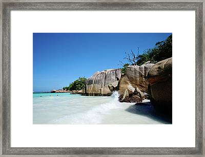 Anse Lazio Framed Print by Dhmig Photography