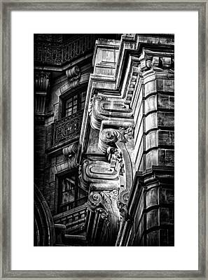 Ansonia Building Detail 1 Framed Print by Val Black Russian Tourchin