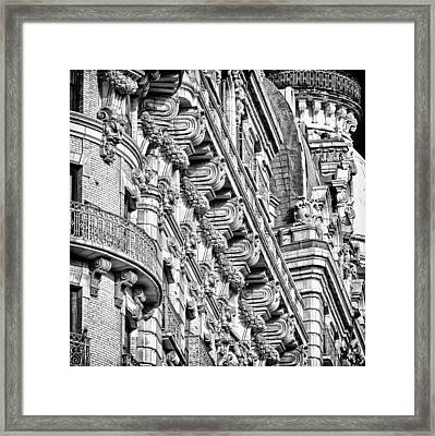 Ansonia Building Detail 10 Framed Print by Val Black Russian Tourchin