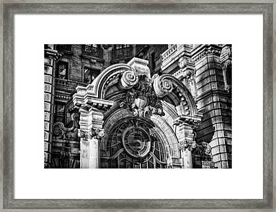 Ansonia Building Detail 2 Framed Print by Val Black Russian Tourchin