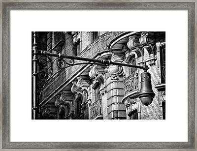 Ansonia Building Detail 35 Framed Print by Val Black Russian Tourchin