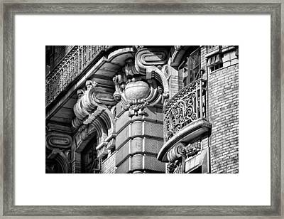 Ansonia Building Detail 37 Framed Print by Val Black Russian Tourchin