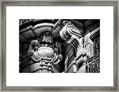 Ansonia Building Detail 39 Framed Print by Val Black Russian Tourchin