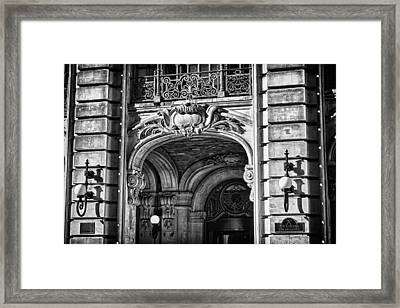Ansonia Building Detail 4 Framed Print by Val Black Russian Tourchin