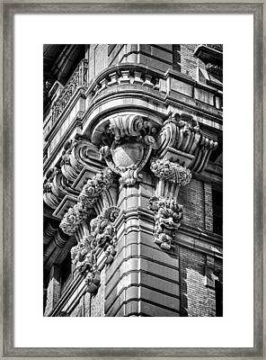 Ansonia Building Detail 40 Framed Print by Val Black Russian Tourchin