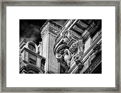 Ansonia Building Detail 41 Framed Print by Val Black Russian Tourchin