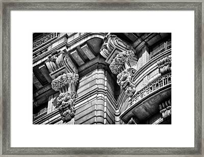 Ansonia Building Detail 42 Framed Print by Val Black Russian Tourchin