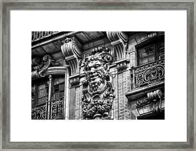 Ansonia Building Detail 44 Framed Print by Val Black Russian Tourchin