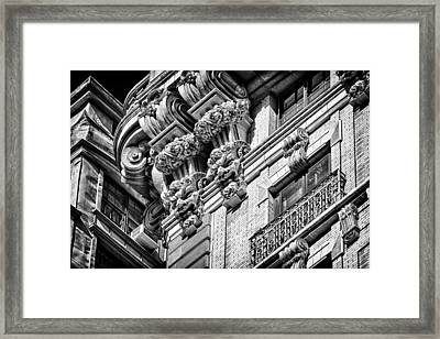 Ansonia Building Detail 45 Framed Print