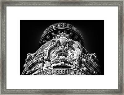 Ansonia Building Detail 47 Framed Print by Val Black Russian Tourchin