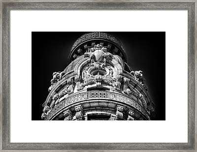 Ansonia Building Detail 48 Framed Print by Val Black Russian Tourchin