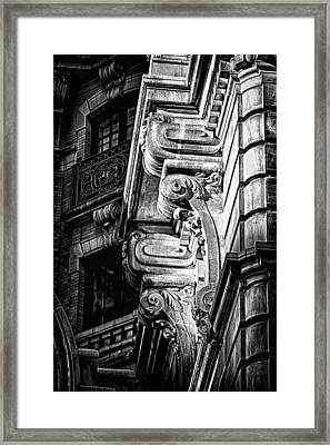 Ansonia Building Detail 49 Framed Print by Val Black Russian Tourchin