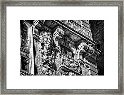 Ansonia Building Detail 6 Framed Print by Val Black Russian Tourchin