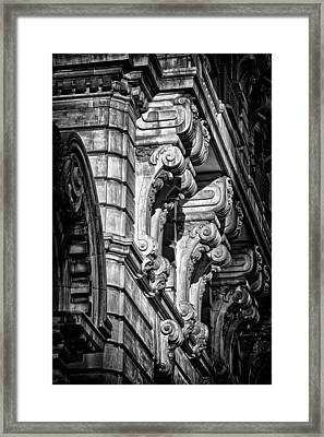 Ansonia Building Detail 7 Framed Print by Val Black Russian Tourchin