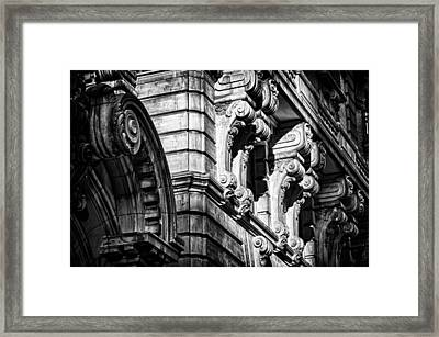 Ansonia Building Detail 8 Framed Print by Val Black Russian Tourchin