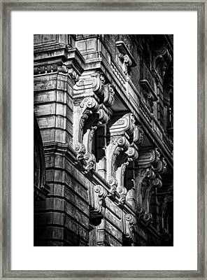 Ansonia Building Detail 9 Framed Print by Val Black Russian Tourchin