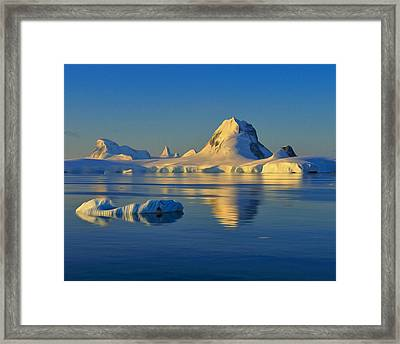 Antarctic Dusk Framed Print by Tony Beck