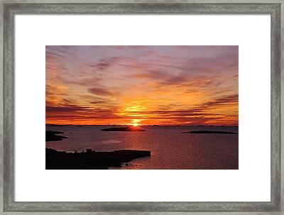 Antarctic Sunset 02 Framed Print by David Barringhaus