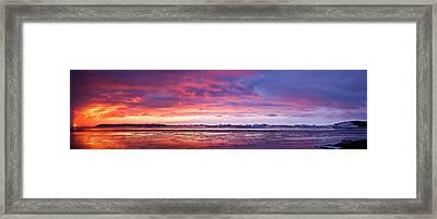 Antarctic Sunset Framed Print by David Barringhaus